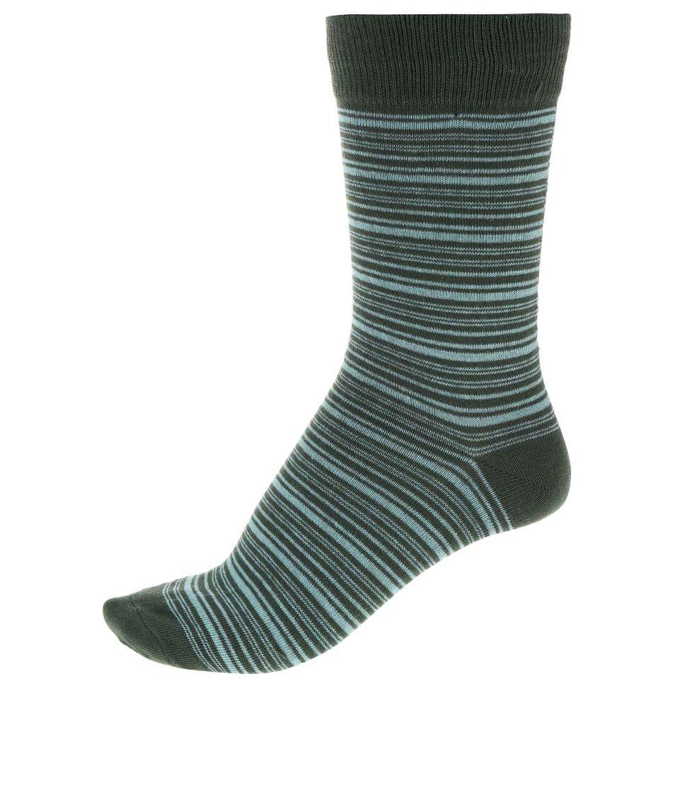 Zelené pruhované ponožky Jack & Jones Classic