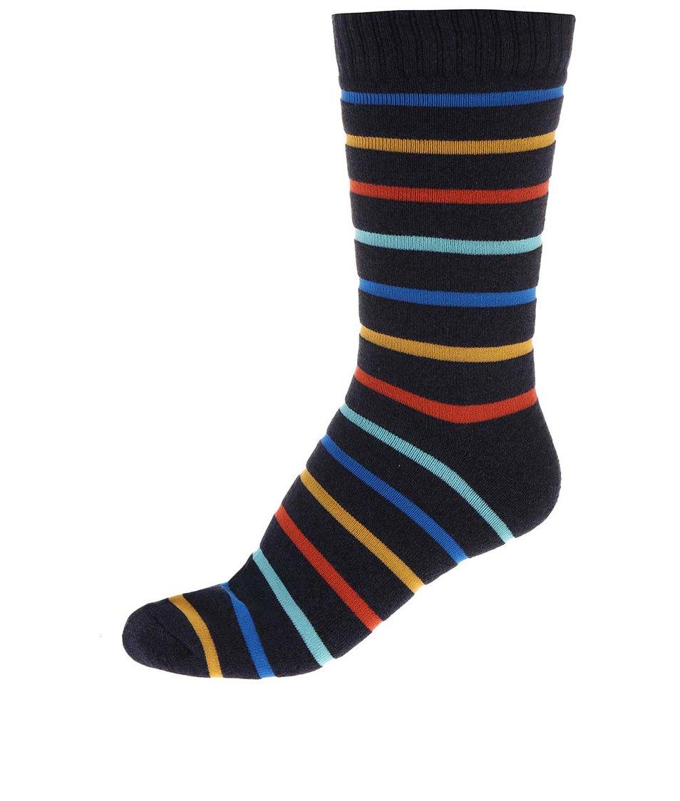 Tmavě modré vzorované ponožky Jack & Jones Heavy