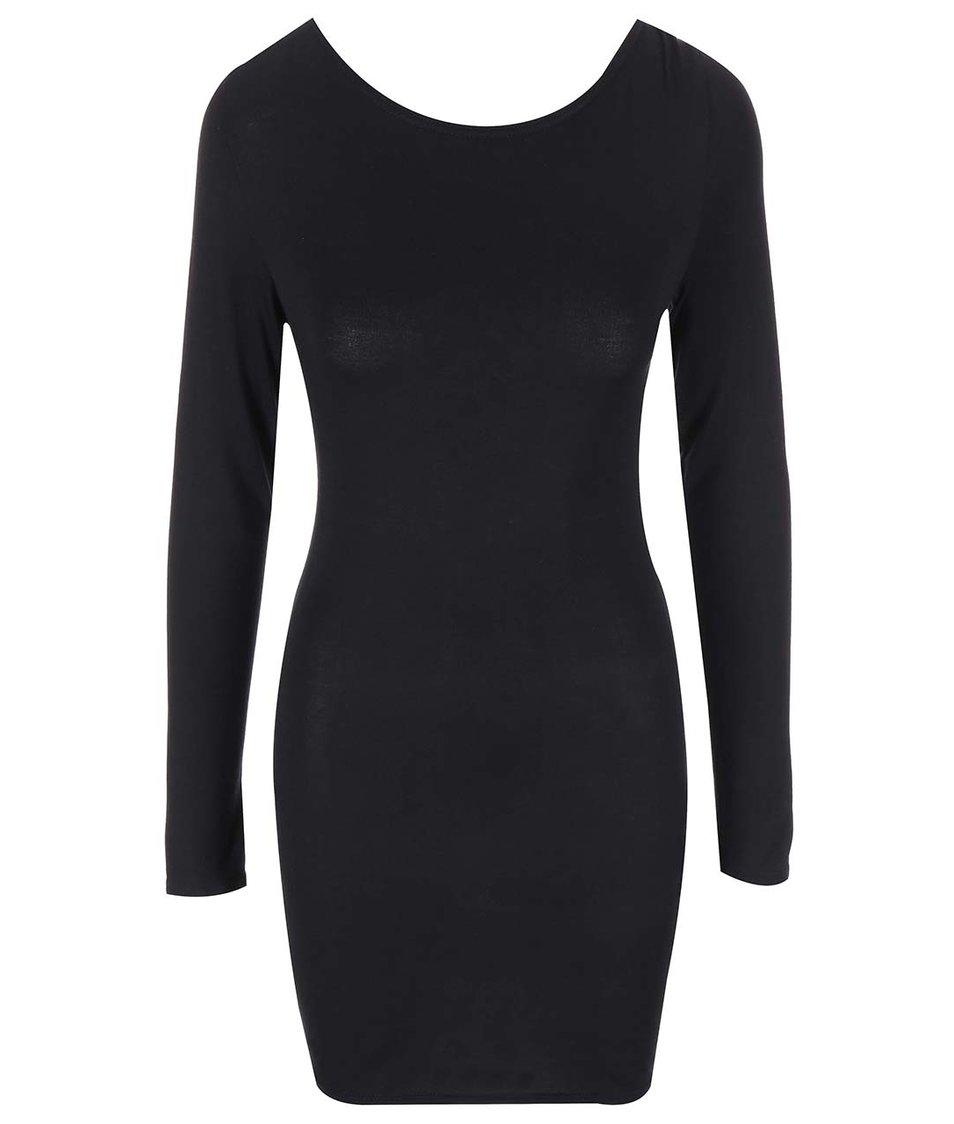Černé šaty se šněrovacím výstřihem na zádech SisterS Point Sup