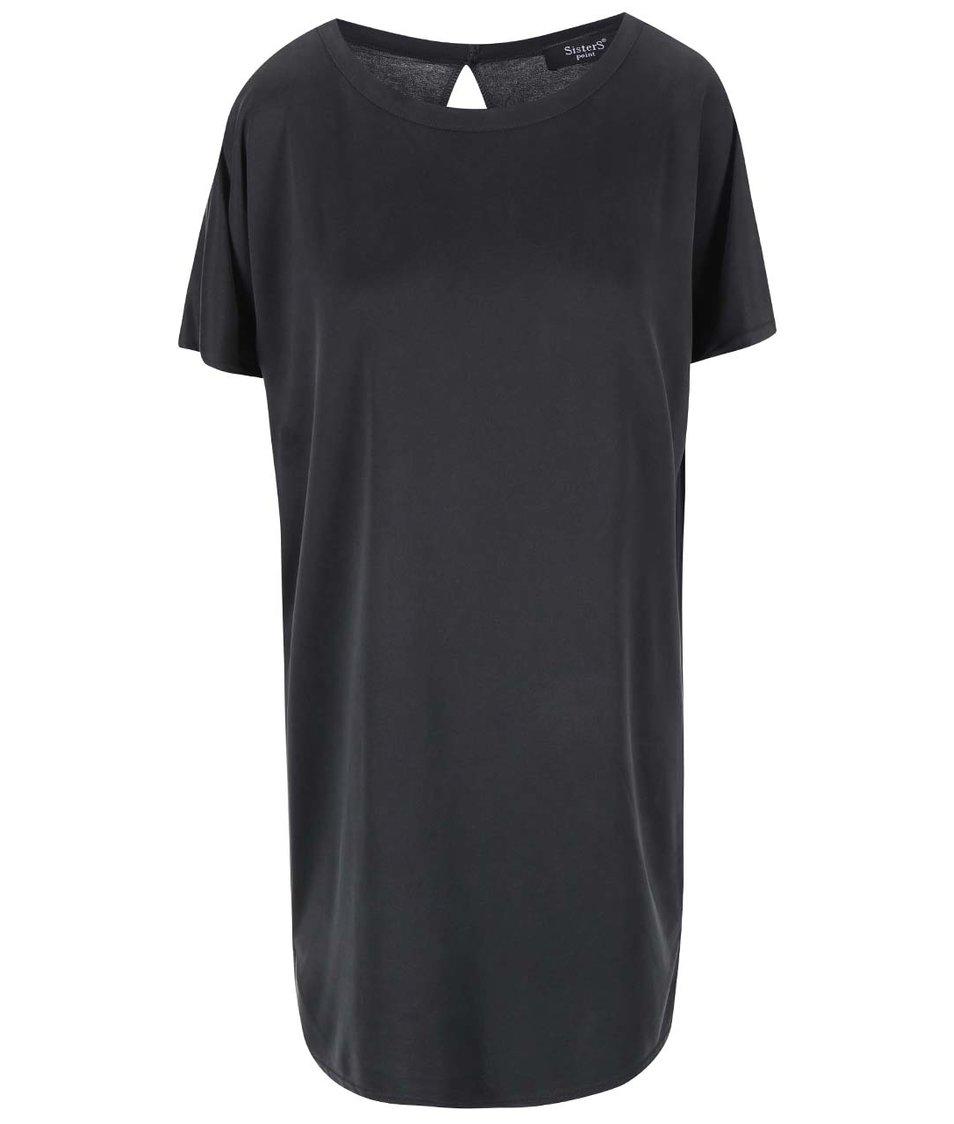 Tmavě šedé šaty SisterS Point Seleto