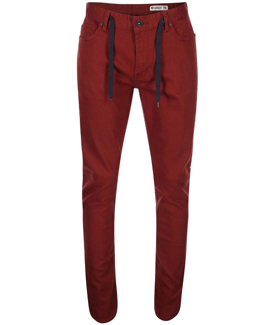 Červené slim džíny Element Owen