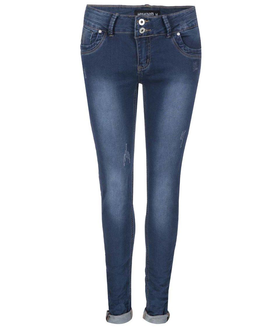 Modré džíny s odřeným efektem Haily´s Clara