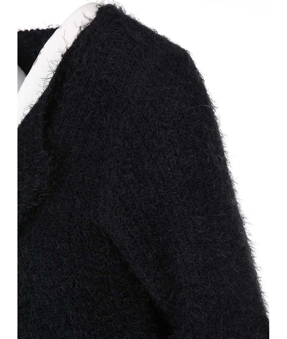 Černý volnější cardigan se zipem Haily´s Lisa