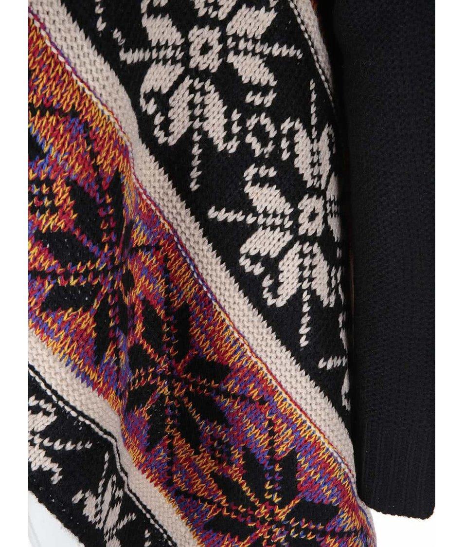 Černý cardigan s barevným vzorem Haily´s Tara