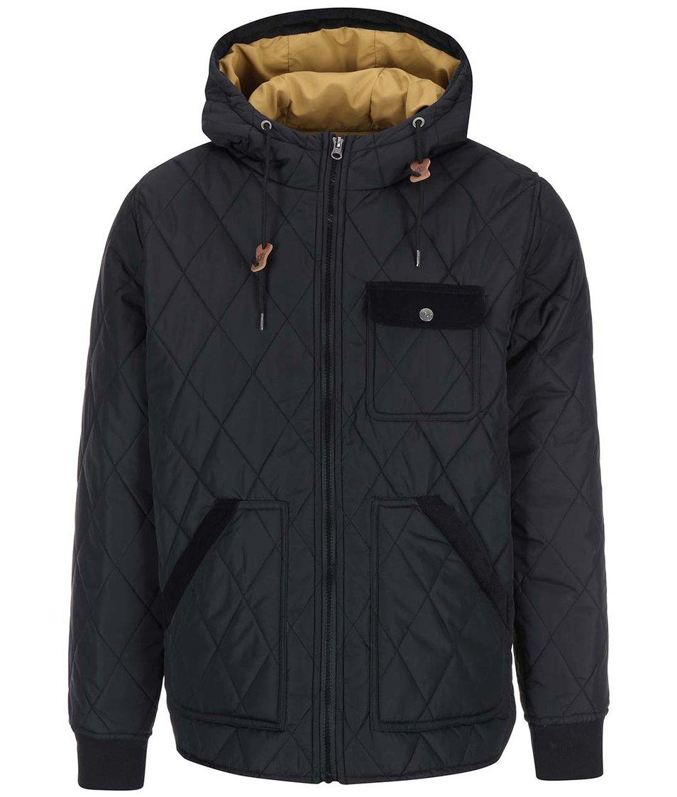 Černá prošívaná bunda s kapucí Element Gibsen