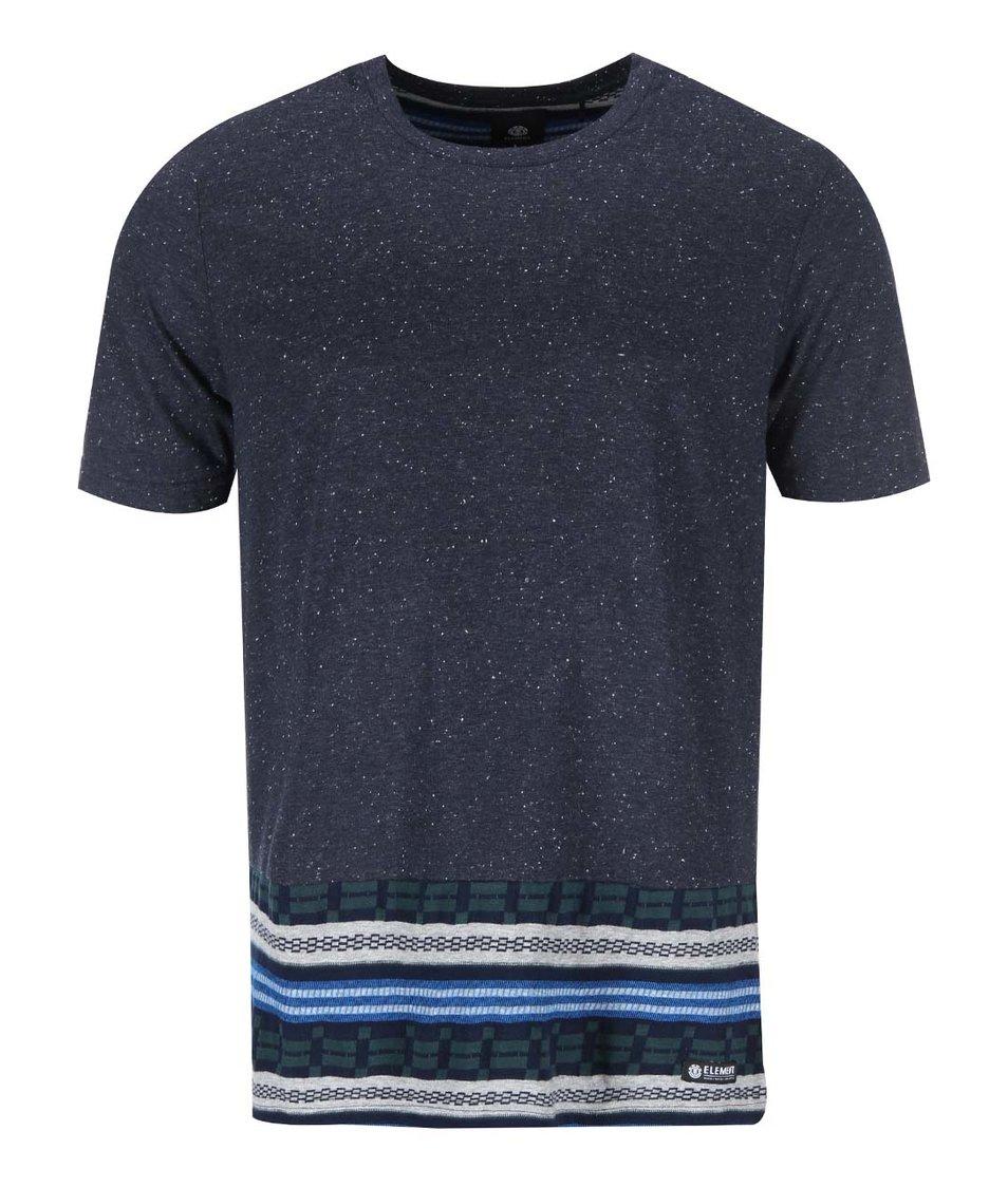 Tmavě modré žíhané triko s pruhy Element Wright