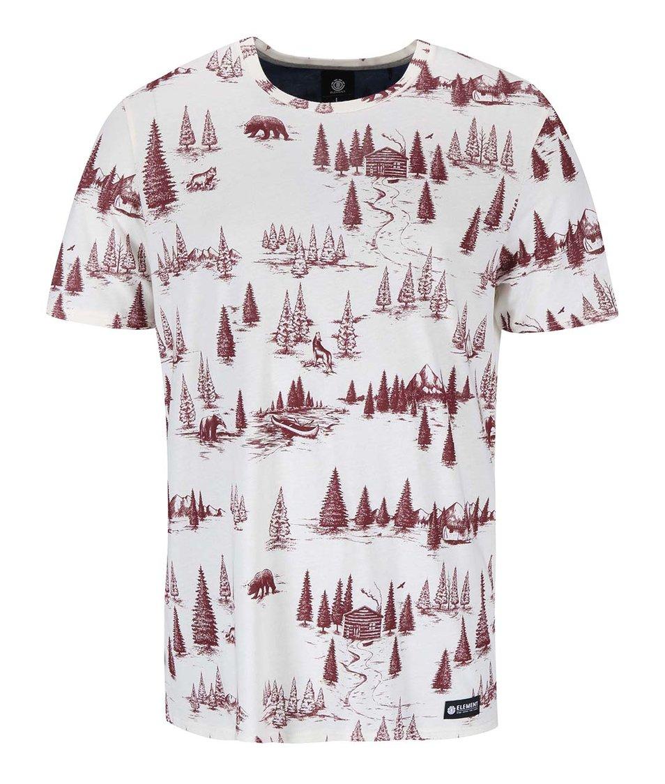 Krémové triko s potiskem Element Mitch