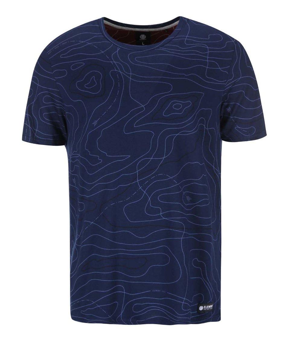 Modré triko s potiskem Element Mitch