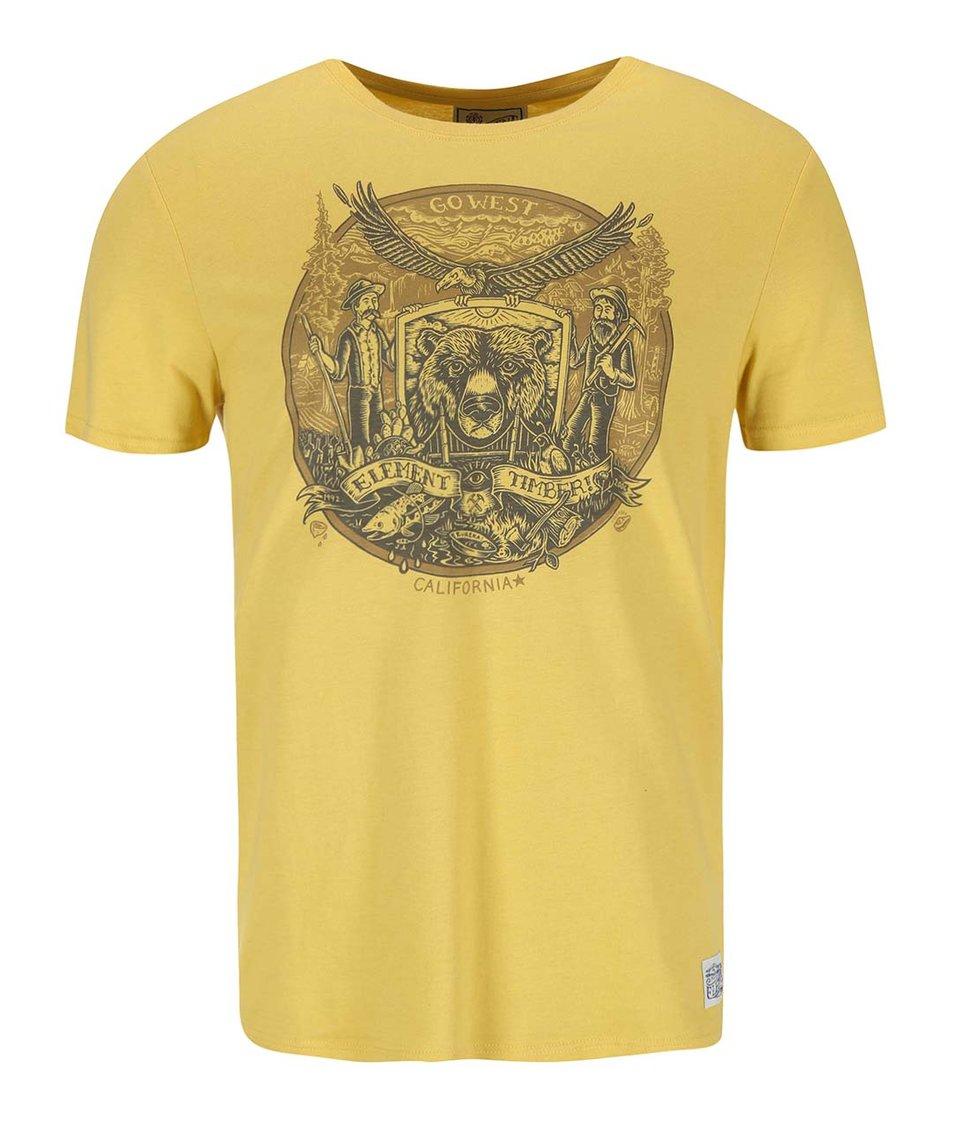 Žluté triko s potiskem Element Bear