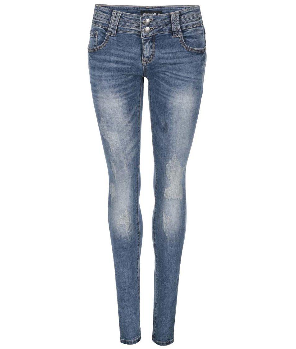 Modré džíny s ošoupaným efektem Haily´s Jamie