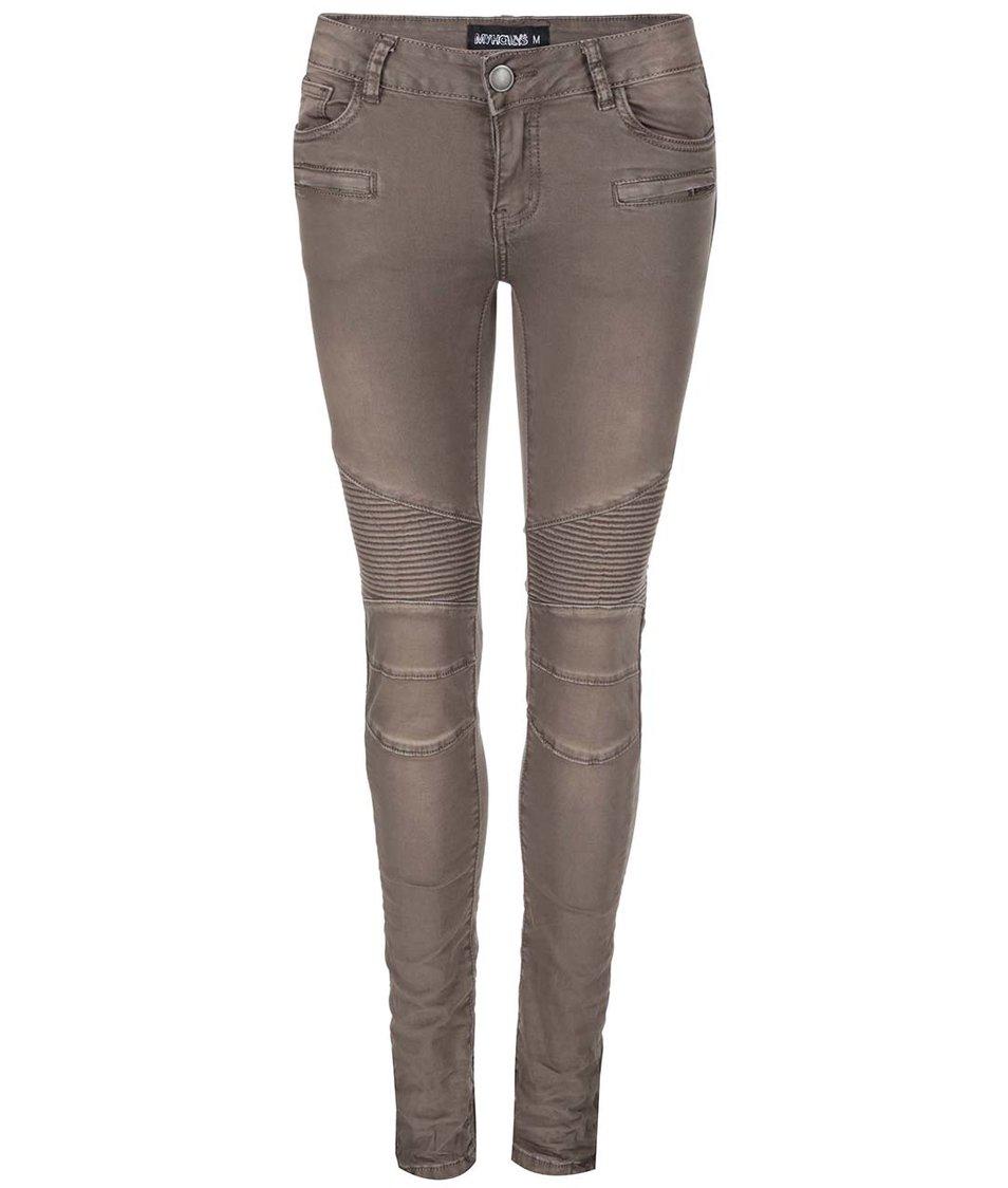 Šedohnědé džíny s detaily Haily´s Nicola