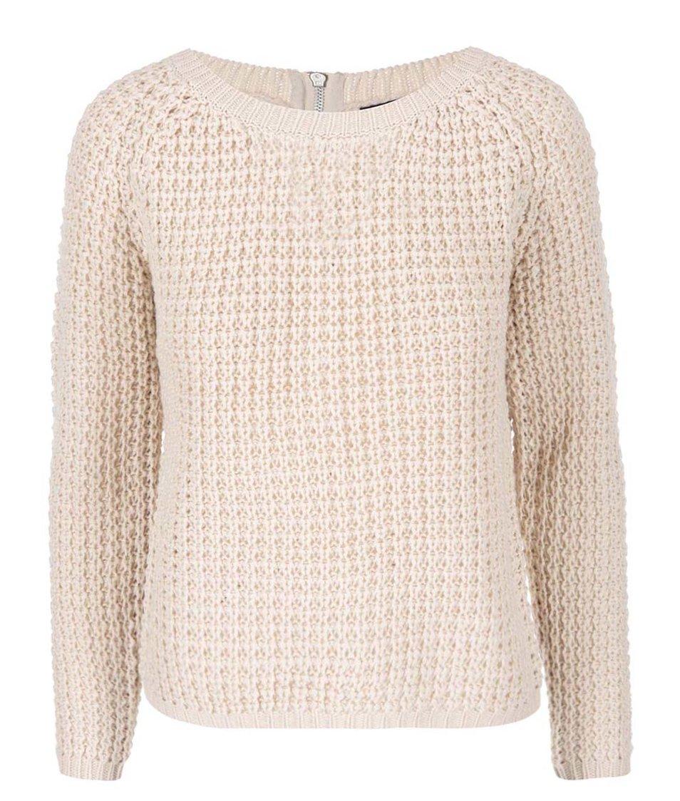 Béžový svetr se zipem Haily´s Pixi