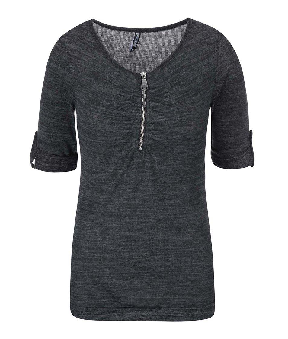 Tmavě šedé tričko se zipem Haily´s Ruby