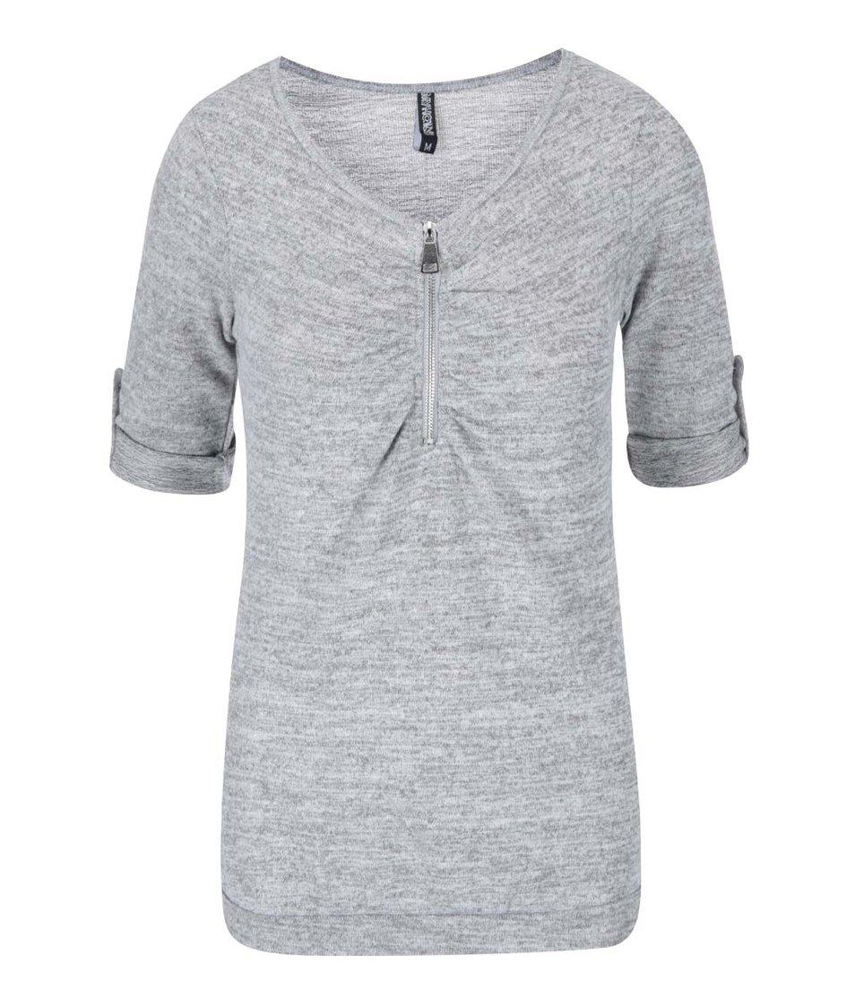 Světle šedé tričko se zipem Haily´s Ruby