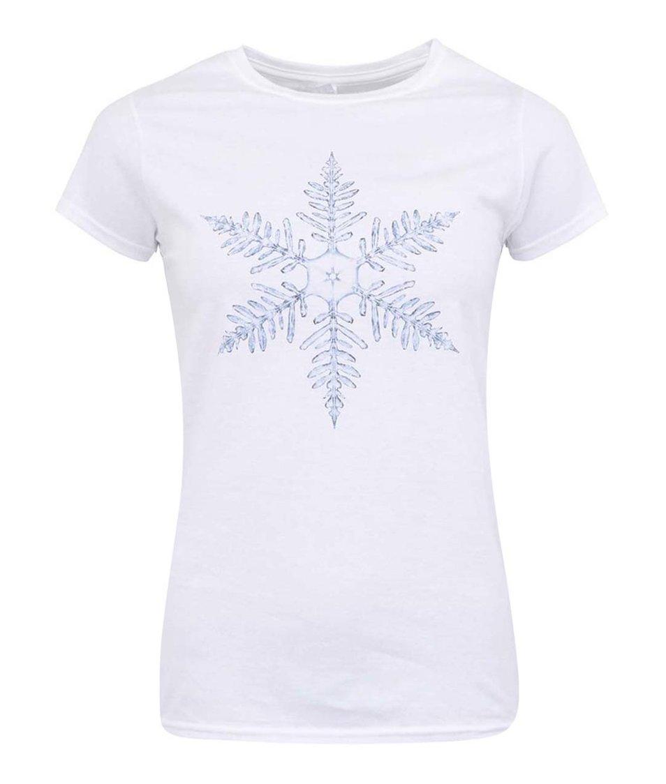 Bílé dámské tričko ZOOT Originál Vločka