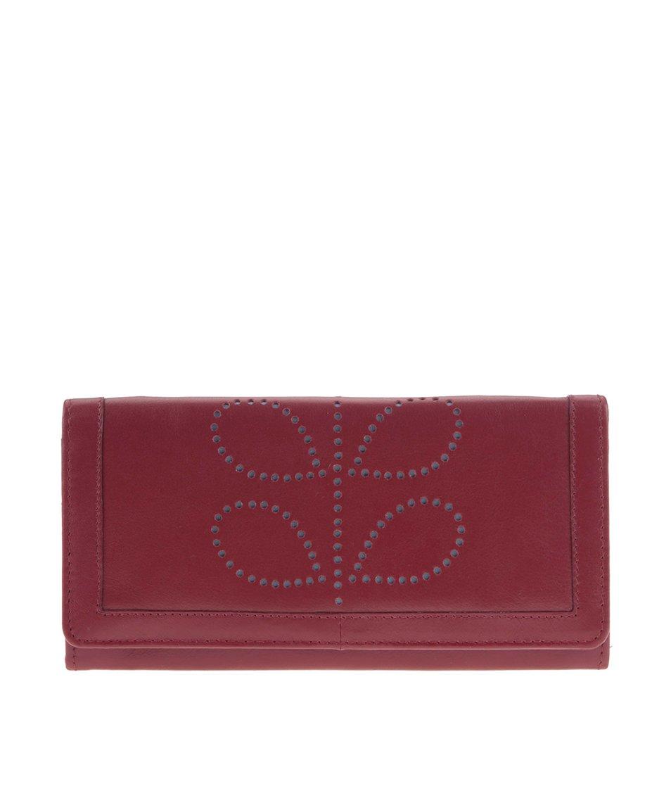 Modro-červená kožená peněženka Golunski