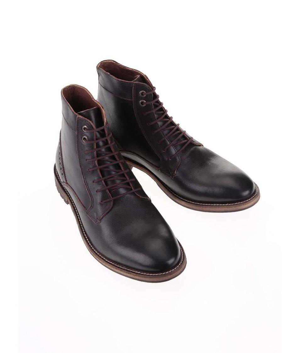 2e71844fb5a Vínovohnědé kožené kotníkové boty Frank Wright Acton - Vánoční HIT ...