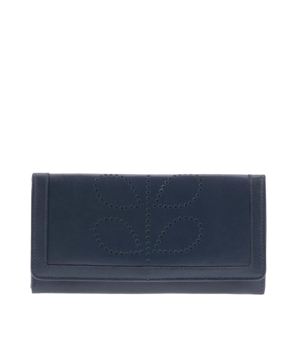 Zeleno-modrá kožená peněženka Golunski