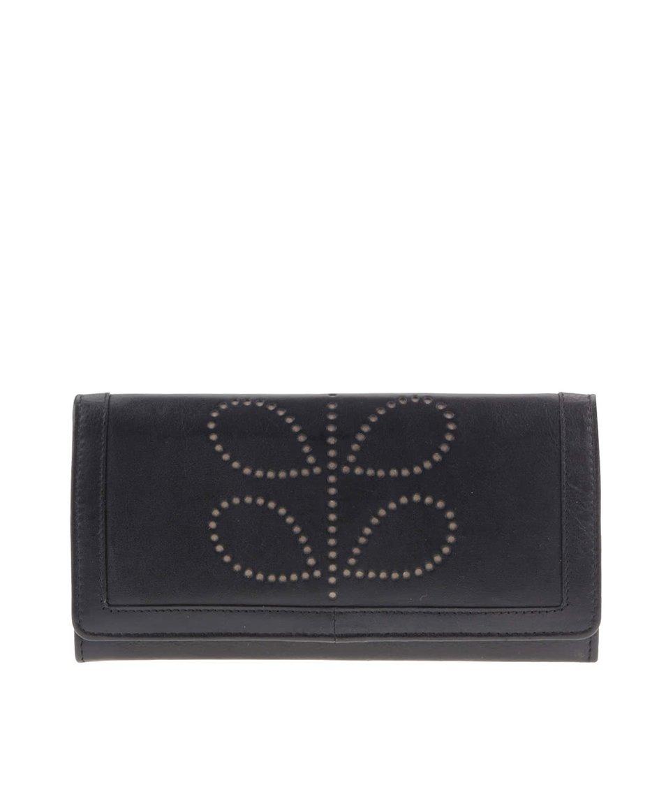 Béžovo-černá kožená peněženka Golunski