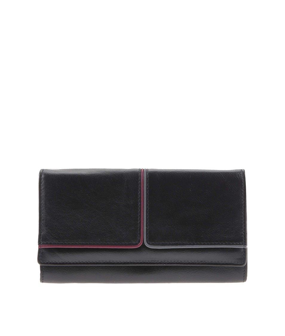 Černá dámská peněženka s červeným a zeleným pruhem Golunski