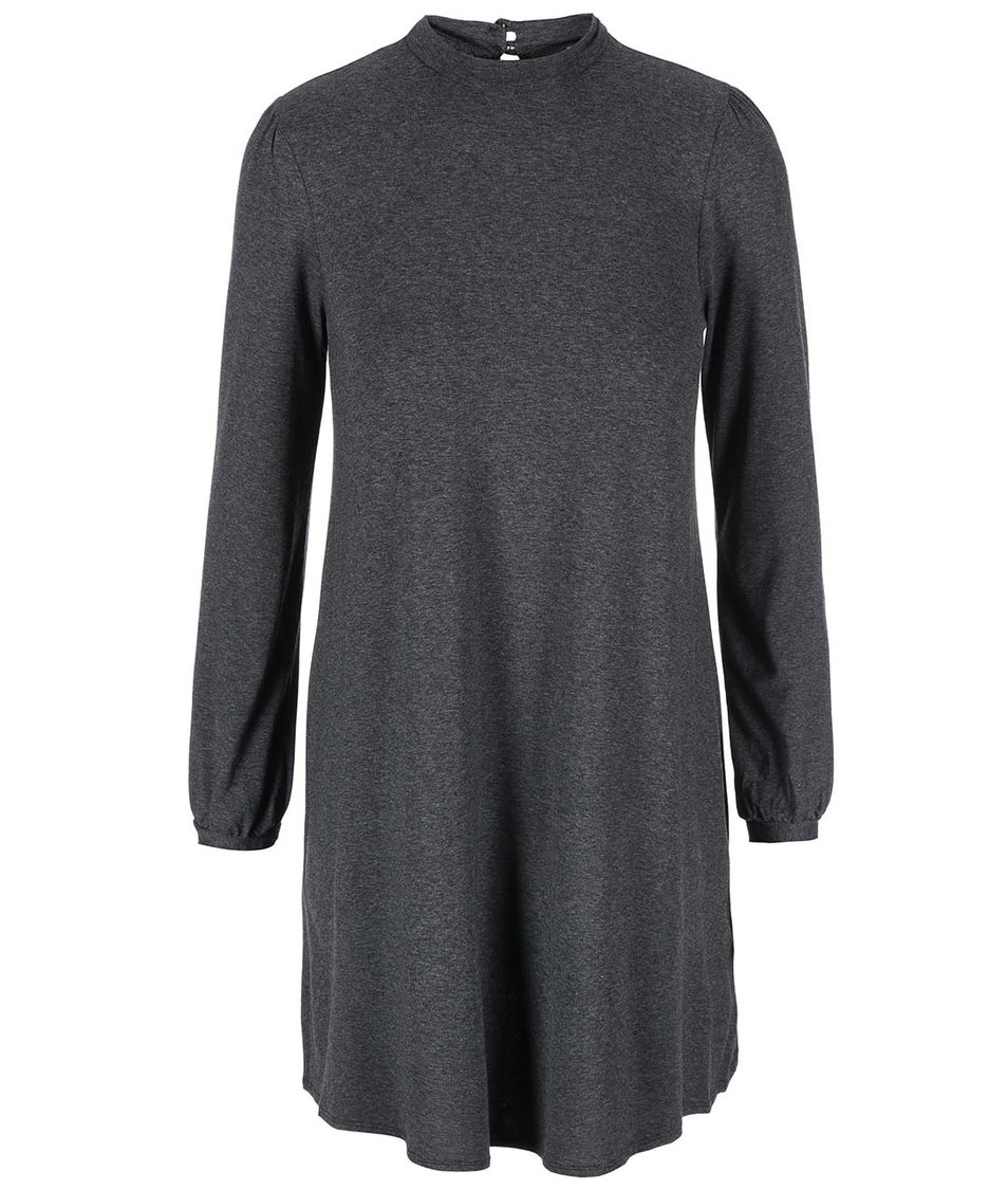 Šedé šaty s dlouhým rukávem Dorothy Perkins