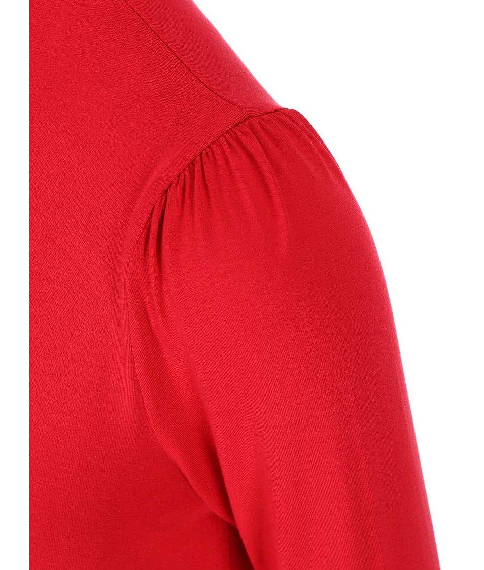 Červené šaty s dlouhým rukávem Dorothy Perkins