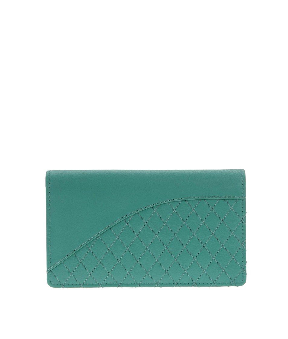 Zelená dámská kožená peněženka Golunski