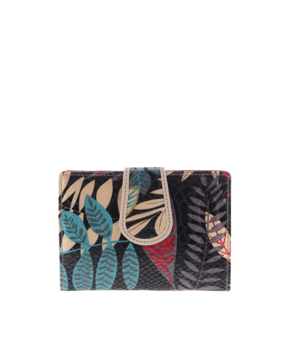 Barevná peněženka s motivem listí graffiti