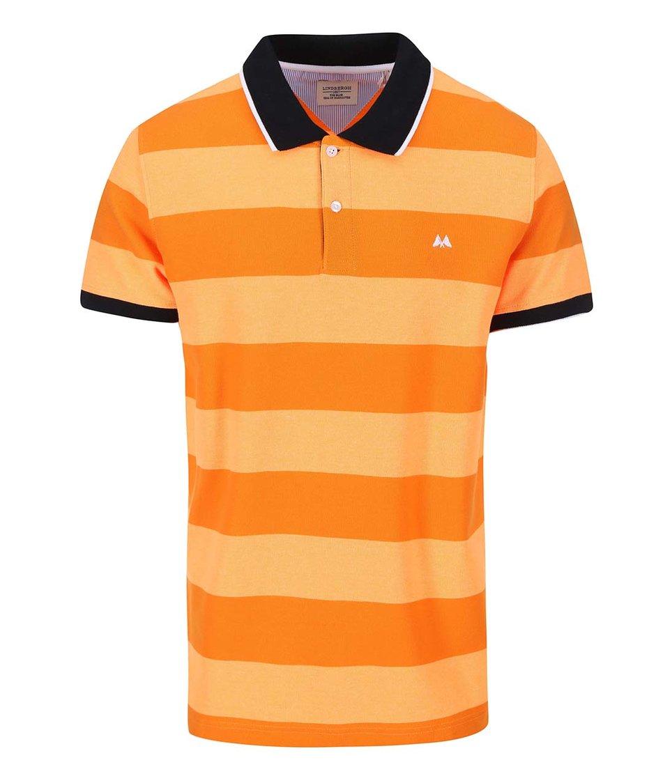 Svítivě oranžové polo triko Lindbergh