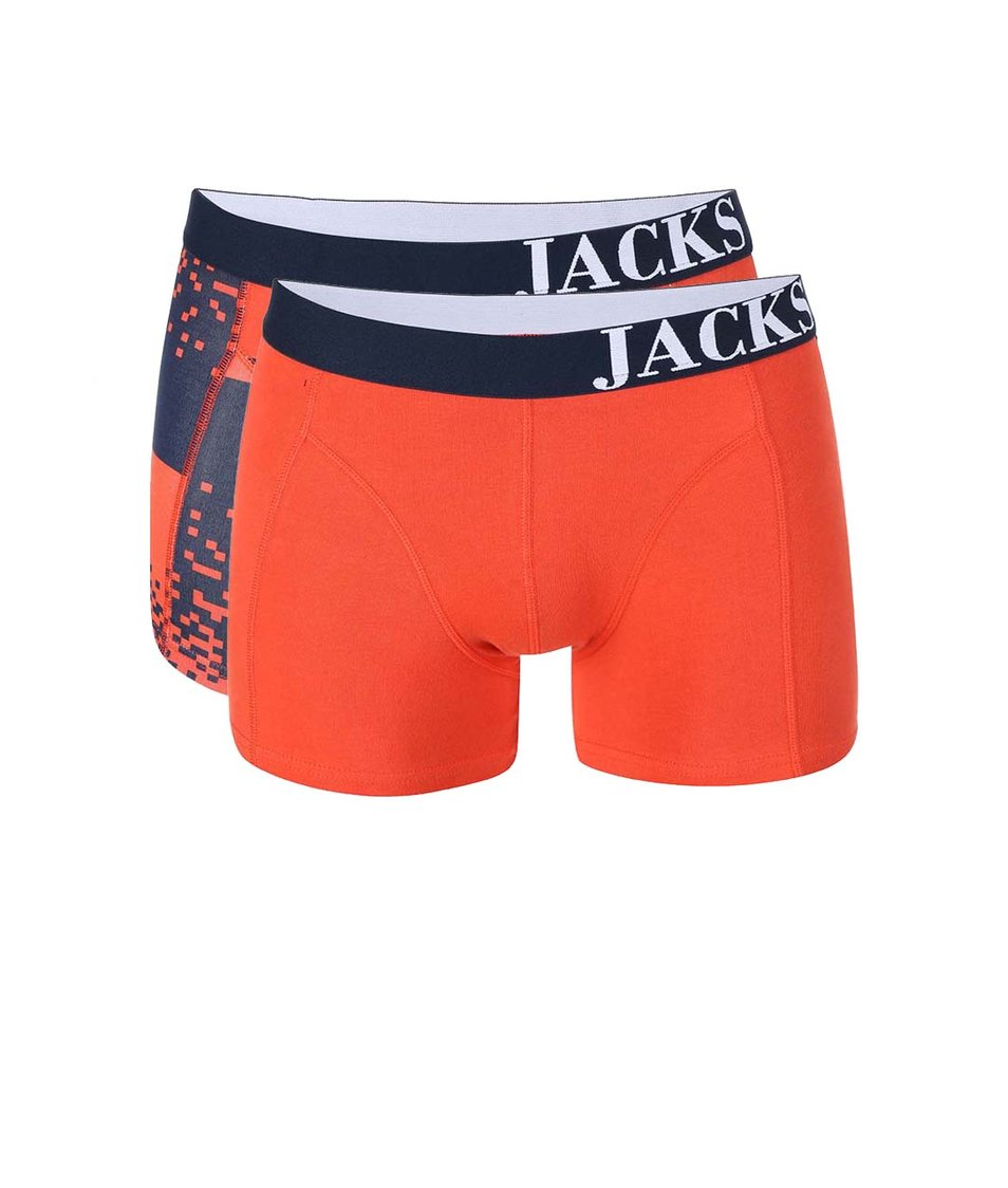 Sada dvou oranžových boxerek Jacks