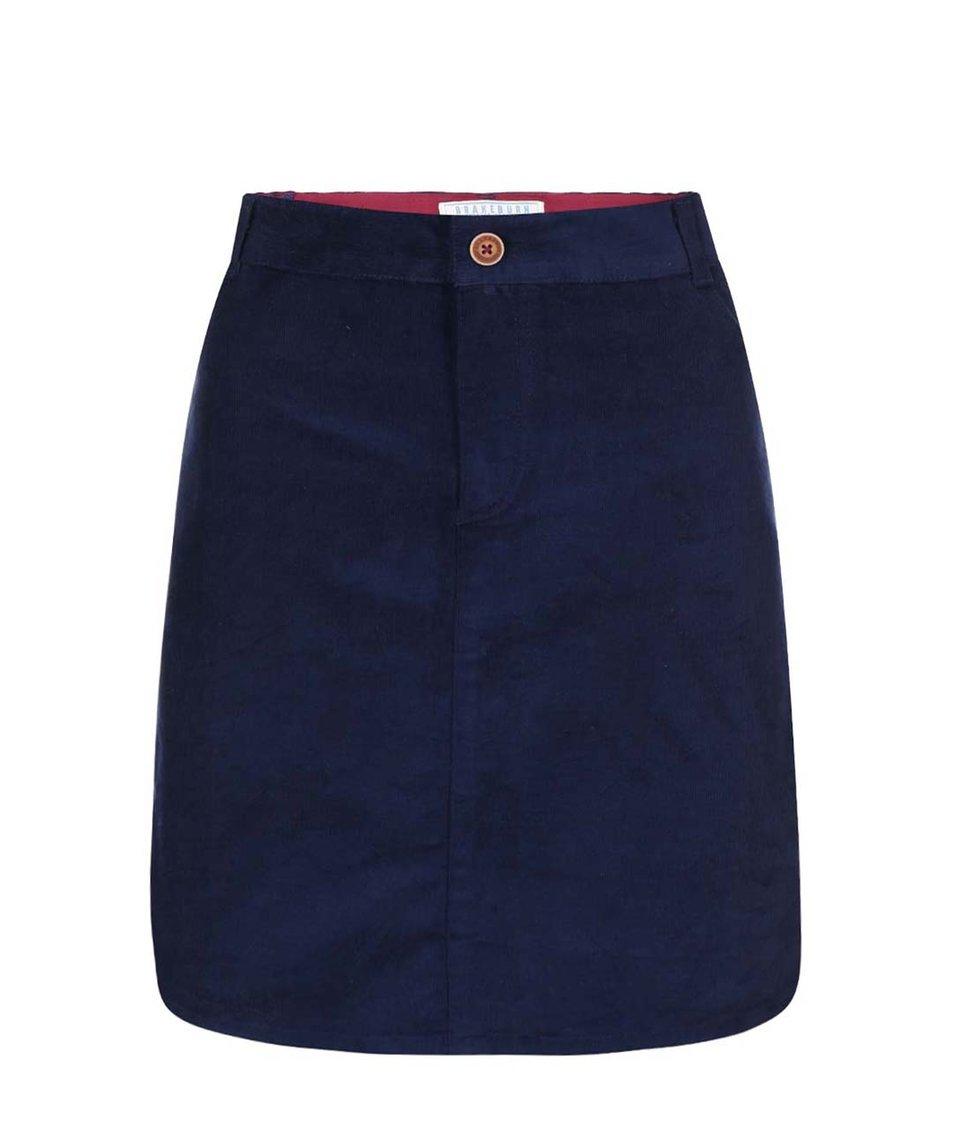 Tmavě modrá manšestrová sukně Brakeburn Baby Cord