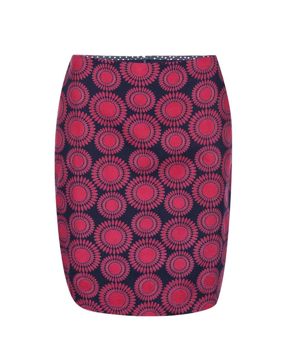 Vínovo-modrá vzorovaná sukně Brakeburn Textured Circle
