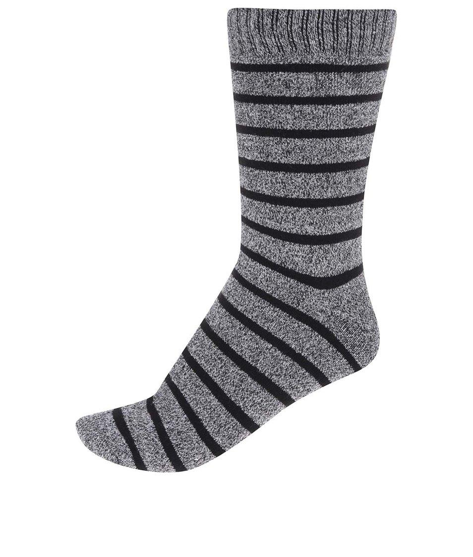 Černo-šedé pruhované ponožky Jack & Jones Heavy