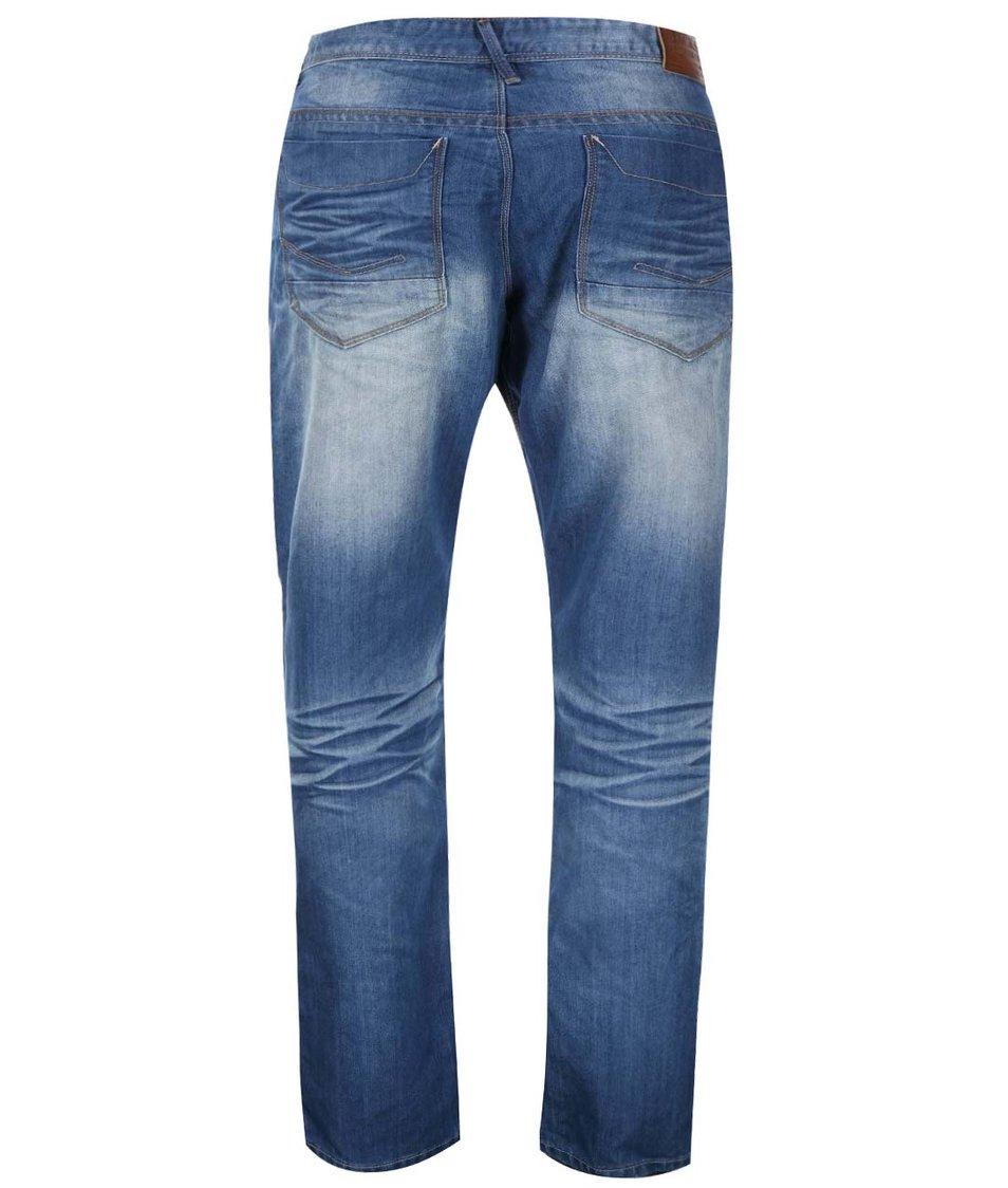 Modré džíny se sepraným efektem Jacks