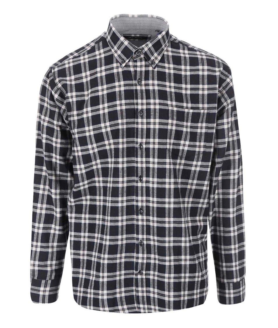 Bílo-černá kostkovaná košile Jacks