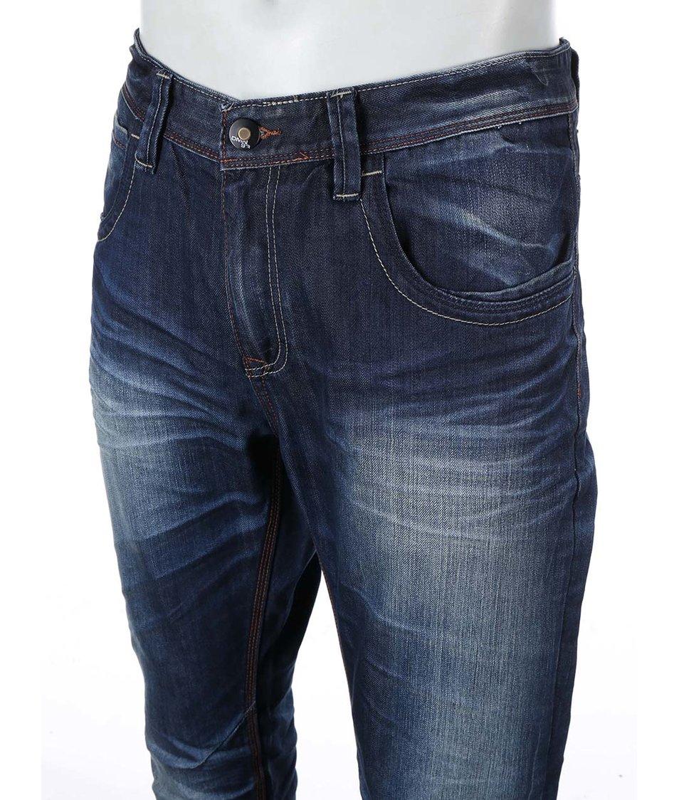 Tmavě modré džíny se sepraným efektem Jacks