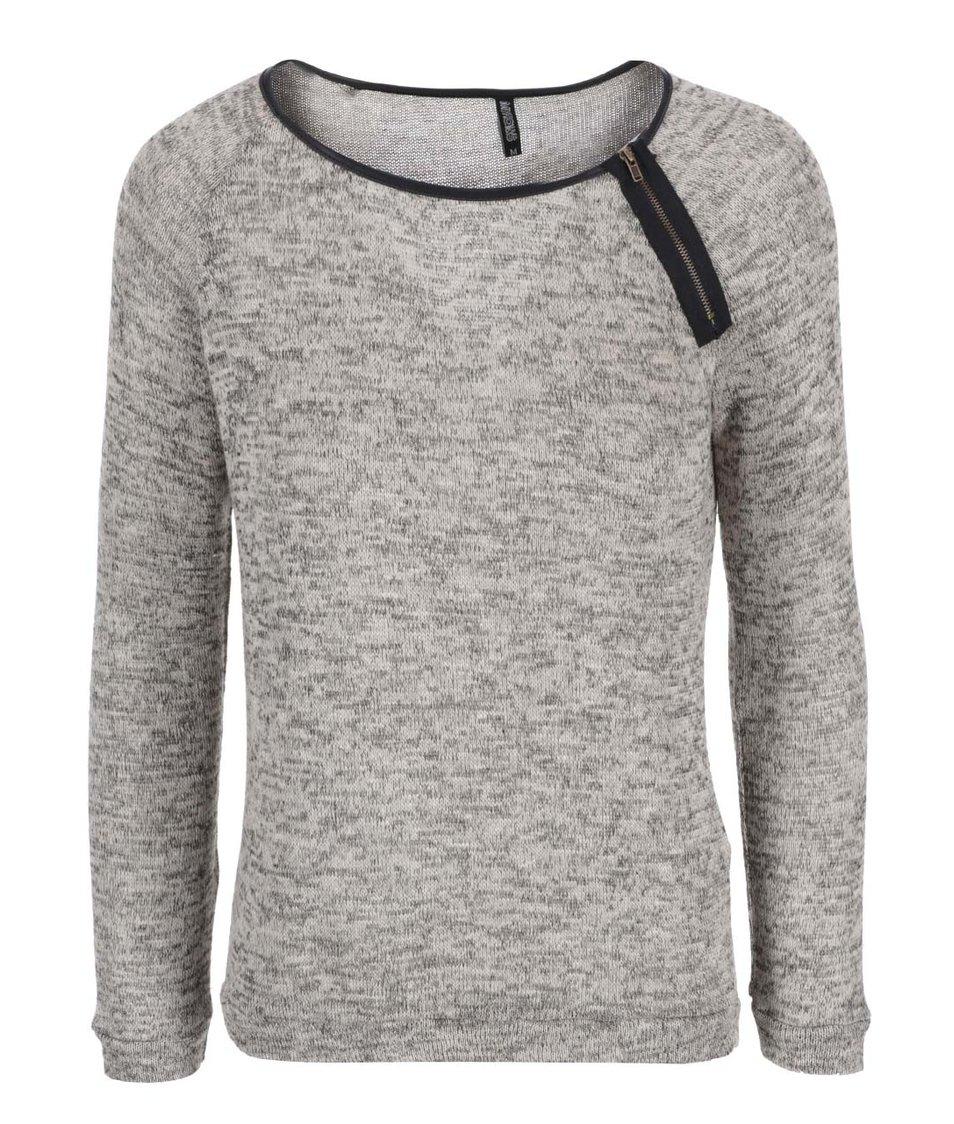 Tmavě šedé tričko s detailem zipu Haily´s Ellie