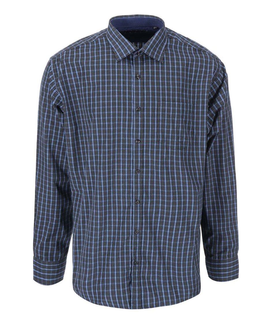 Modrá košile s kostkovaným vzorem Jacks