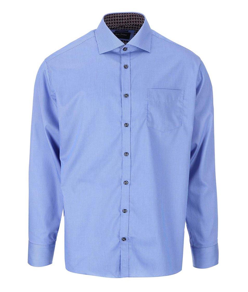 Modrá formální košile s drobným pruhem Jacks