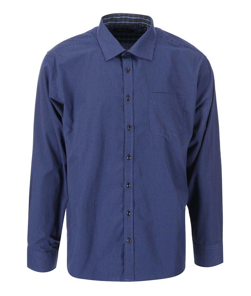 Tmavě modrá košile s drobným kostkovaným vzorem Jacks