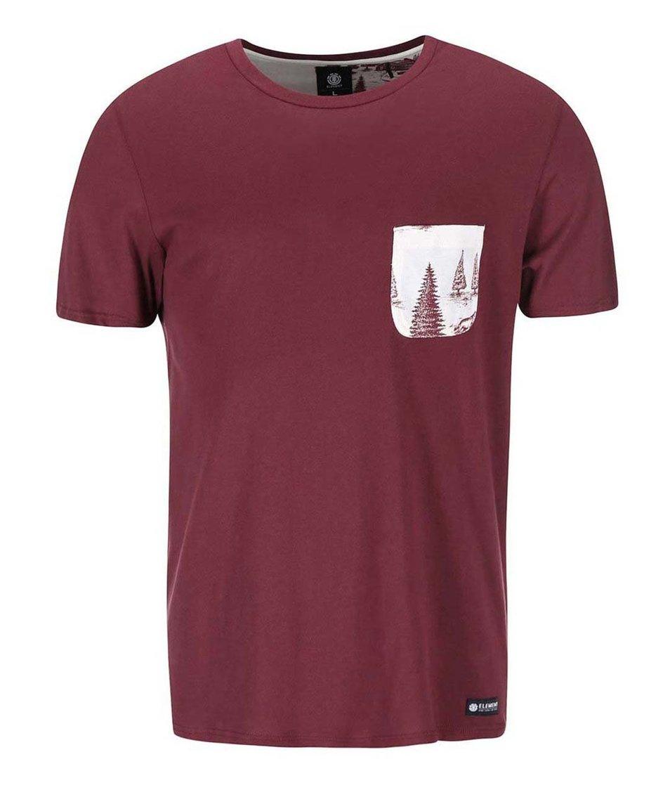 Vínové triko s kapsou Element Howell