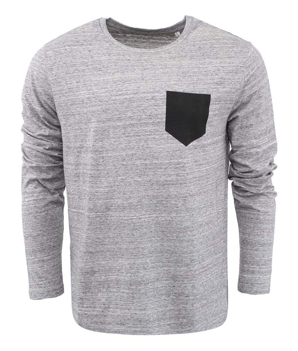 Šedé pánské triko ZOOT Originál Pocket Černá