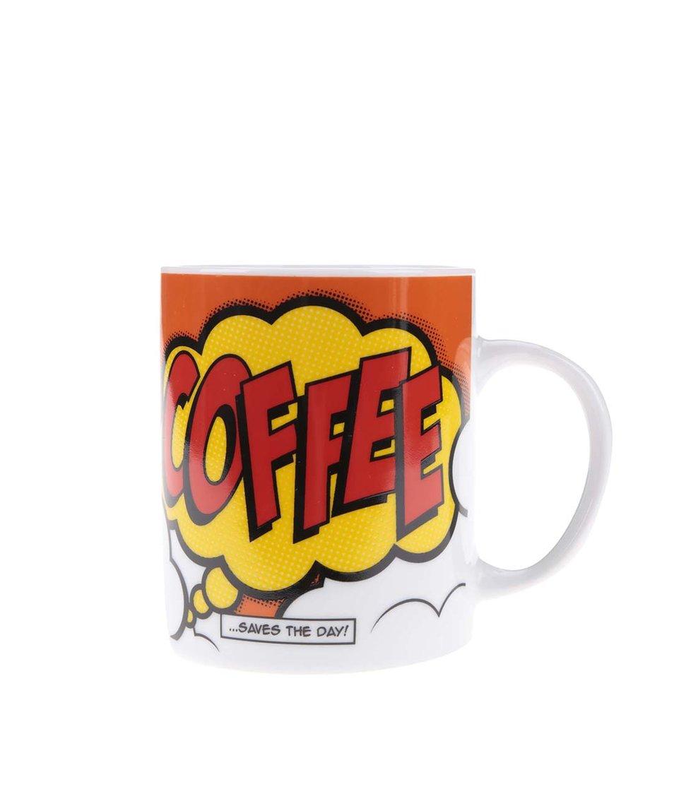 Červený porcelánový hrnek s potiskem Gift Republic Coffee