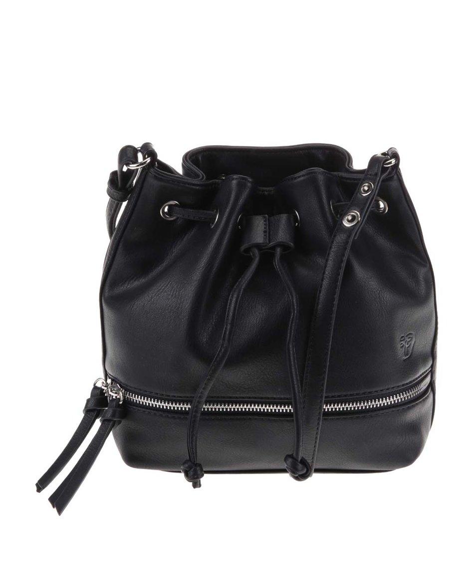 Černá menší kabelka s ozdobným zipem Tom Tailor