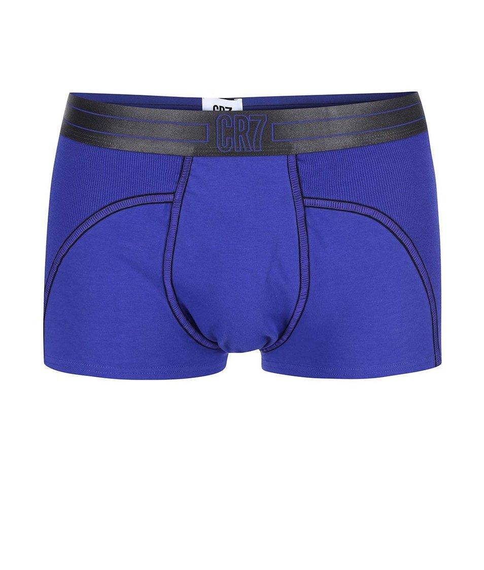 Modré boxerky s výraznými lemy CR7