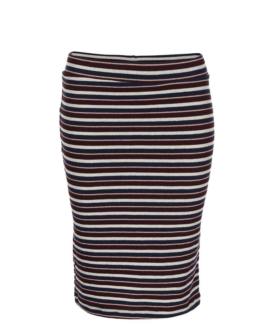 Barevná pruhovaná sukně VILA Decor