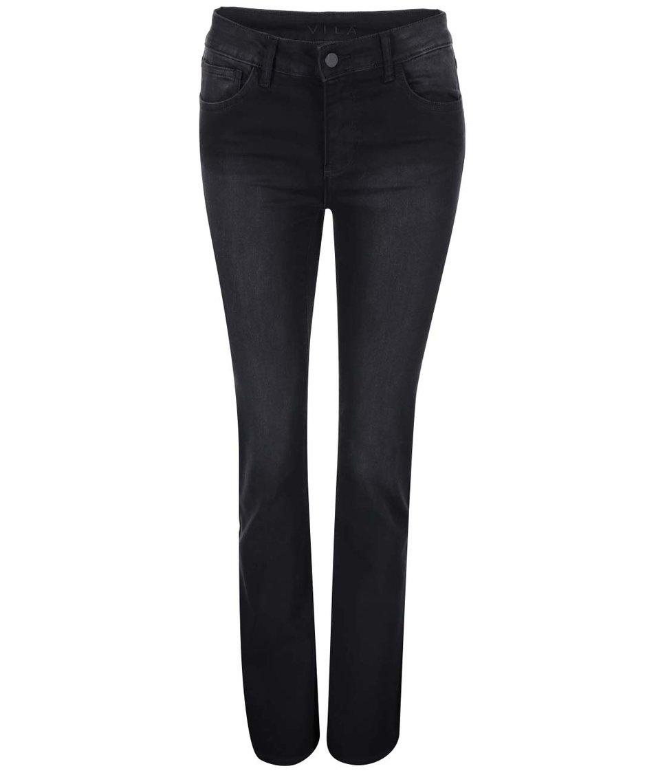 Černé zvonové džíny VILA Commit