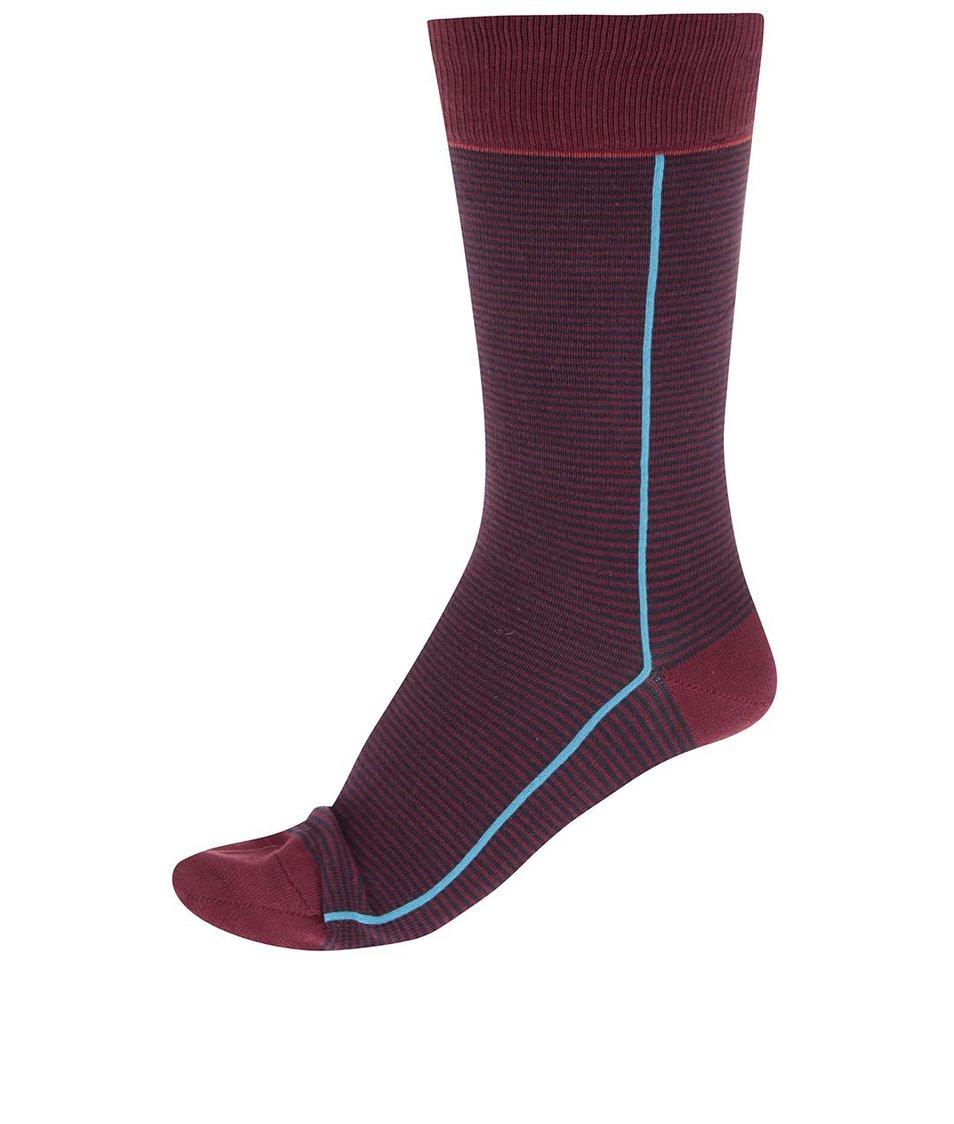 Černo-vínové ponožky s tyrkysovým pruhem CR7