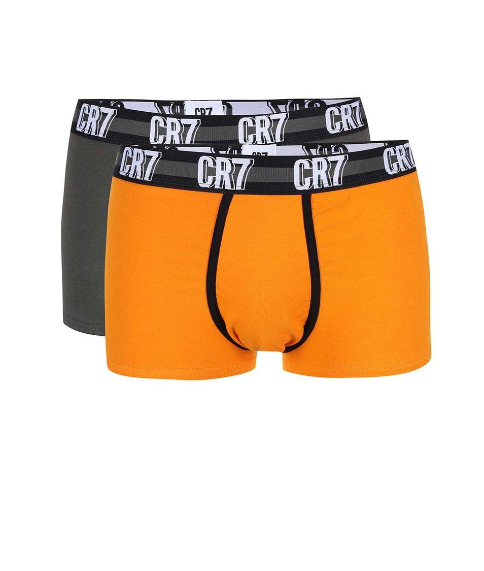 Sada šedých a oranžových boxerek CR7