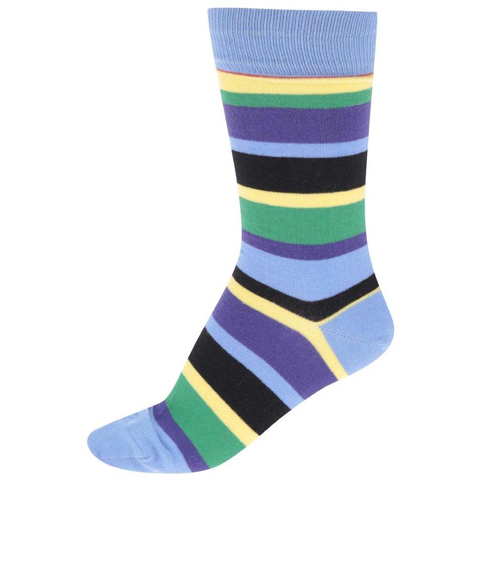 Světle modré ponožky s barevnými pruhy CR7